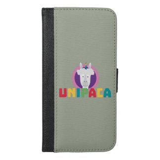 Capa Carteira Para iPhone 6/6s Plus Unicórnio Unipaca Z4srx da alpaca