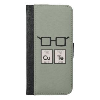 Capa Carteira Para iPhone 6/6s Plus Vidros bonitos Zwp34 do nerd do elemento químico