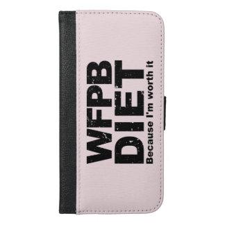 Capa Carteira Para iPhone 6/6s Plus WFPB que eu valer a pena (o preto)