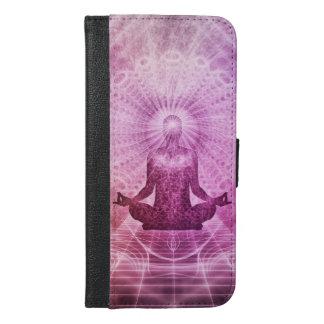 Capa Carteira Para iPhone 6/6s Plus Zen espiritual da meditação da ioga colorido