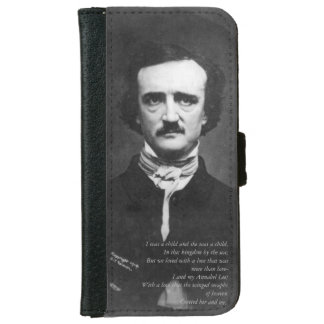 Capa Carteira Para iPhone 6/6s Ponto de entrada de Edgar Allen com citações