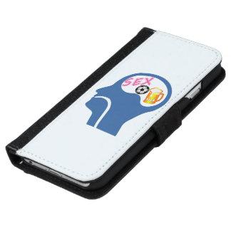 Capa Carteira Para iPhone 6/6s Psique masculina