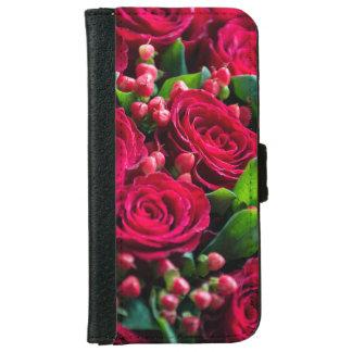 Capa Carteira Para iPhone 6/6s Rosas vermelhas