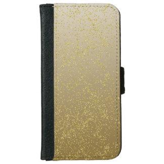 Capa Carteira Para iPhone 6/6s Sparkles chiques dos confetes do ouro
