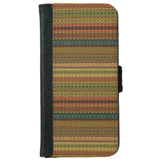 Capa Carteira Para iPhone 6/6s Teste padrão asteca tribal do vintage