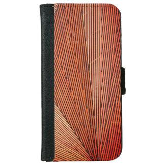 Capa Carteira Para iPhone 6/6s Teste padrão de madeira à moda da textura dos