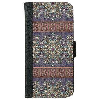 Capa Carteira Para iPhone 6/6s Teste padrão floral étnico abstrato colorido da