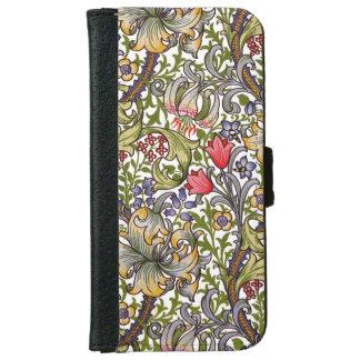 Capa Carteira Para iPhone 6/6s Teste padrão floral William Morris do vintage