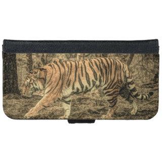 Capa Carteira Para iPhone 6/6s Tigre selvagem majestoso dos animais selvagens da