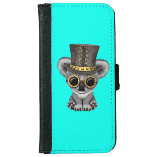 Capa Carteira Para iPhone 6/6s Urso de Koala bonito do bebê de Steampunk