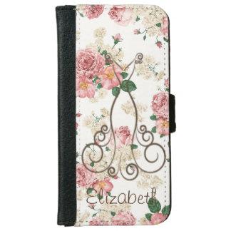 Capa Carteira Para iPhone 6/6s Vestido elegante adorável, floral