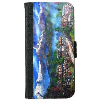 Capa Carteira Para iPhone 6/6s Vista panorâmica da montanha Nepal de Everest