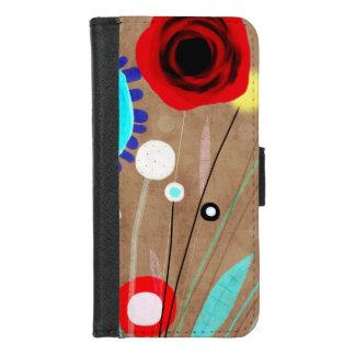 Capa Carteira Para iPhone 8/7 Arte abstracta floral