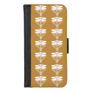 Capa Carteira Para iPhone 8/7 Artes alaranjadas e libélulas dos artesanatos