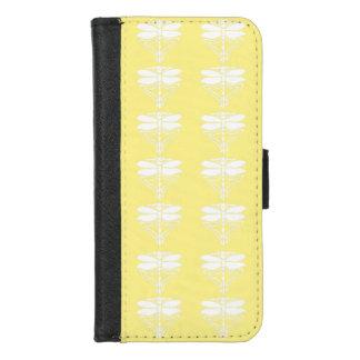 Capa Carteira Para iPhone 8/7 Artes amarelas e libélulas dos artesanatos