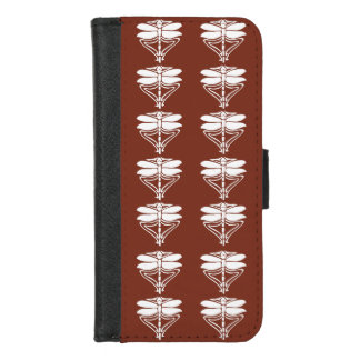 Capa Carteira Para iPhone 8/7 Artes de cobre e libélulas dos artesanatos