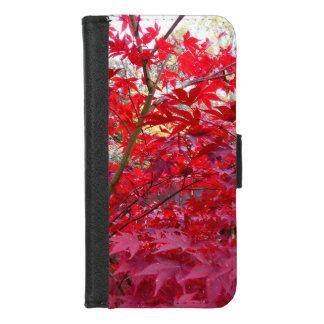 Capa Carteira Para iPhone 8/7 Árvore de bordo vermelho