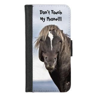 Capa Carteira Para iPhone 8/7 Aviso selvagem do mustang