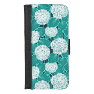 Capa Carteira Para iPhone 8/7 Branco e muffin Fleur de turquesa