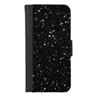 Capa Carteira Para iPhone 8/7 Brilho Stars2 - Preto de prata