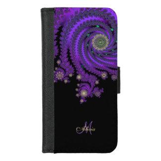 Capa Carteira Para iPhone 8/7 Caixa celta da carteira da galáxia do Fractal do