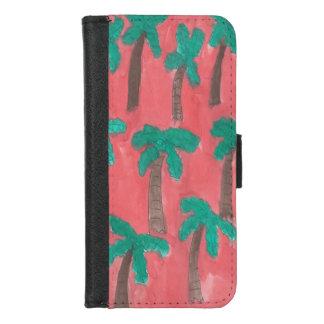 Capa Carteira Para iPhone 8/7 Caixa da carteira das palmeiras da aguarela para o