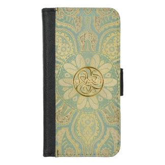 Gold Celtic Triskele Mandala iPhone Wallet Case