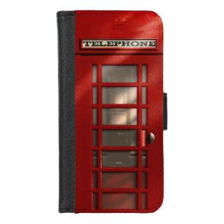 Capa Carteira Para iPhone 8/7 Caixa de telefone vermelha britânica do vintage