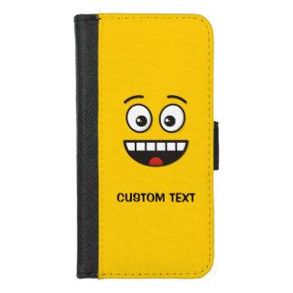 Capa Carteira Para iPhone 8/7 Cara de sorriso com boca aberta