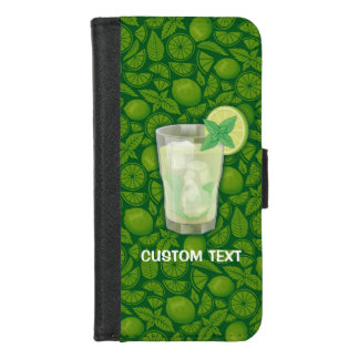 Capa Carteira Para iPhone 8/7 Cocktail de Mojito