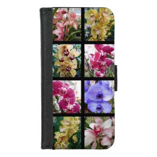 Capa Carteira Para iPhone 8/7 Colagem bonita da orquídea