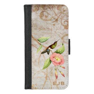 Capa Carteira Para iPhone 8/7 Colibri inchado Coppery do pé do sopro
