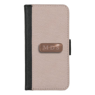 Capa Carteira Para iPhone 8/7 Cora a placa de identificação cor-de-rosa do ouro