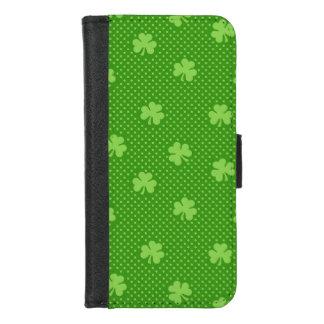 Capa Carteira Para iPhone 8/7 Dia verde de Patricks do santo do teste padrão do
