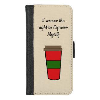 Capa Carteira Para iPhone 8/7 Dizer do café do café