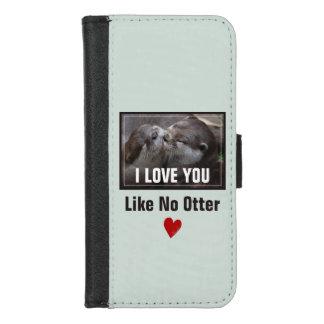 Capa Carteira Para iPhone 8/7 Eu te amo como nenhuma foto bonito da lontra