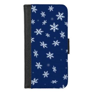 Capa Carteira Para iPhone 8/7 Flocos de neve