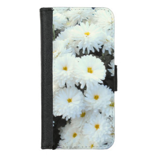 Capa Carteira Para iPhone 8/7 Flores brancas do crisântemo