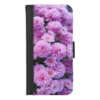 Capa Carteira Para iPhone 8/7 Flores cor-de-rosa do crisântemo