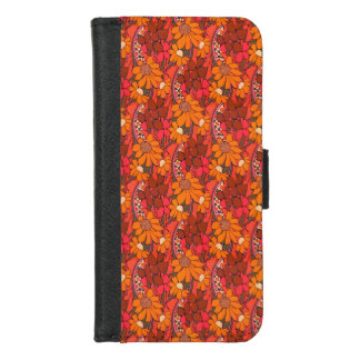 Capa Carteira Para iPhone 8/7 Flores Groovy de Falln