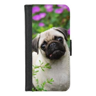 Capa Carteira Para iPhone 8/7 Foto fulva bonito do animal de estimação da cara