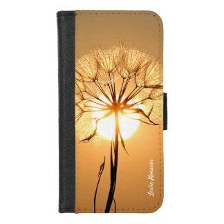 Capa Carteira Para iPhone 8/7 Fulgor alaranjado de Sun do dente-de-leão