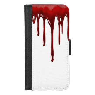 Capa Carteira Para iPhone 8/7 Gotejamentos do sangue de Falln