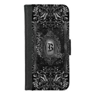 Capa Carteira Para iPhone 8/7 Hallow o monograma original do gótico do Victorian