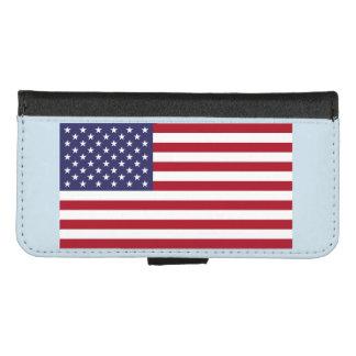 Capa Carteira Para iPhone 8/7 iPhone 8/7 de caixa da carteira - bandeira dos EUA