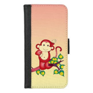 Capa Carteira Para iPhone 8/7 iPhone animal do macaco vermelho bonito 8/7 de
