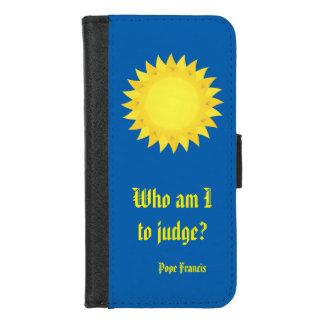 Capa Carteira Para iPhone 8/7 iPhone do papa Francis Cotação Azul 8/7 de caixa