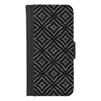 Capa Carteira Para iPhone 8/7 iPhone elegante do brilho de Gray&Black 8/7 de