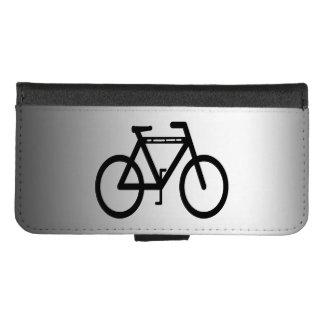 Capa Carteira Para iPhone 8/7 iPhone preto do abstrato da bicicleta 8/7 de caixa