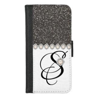 Capa Carteira Para iPhone 8/7 iPhone preto elegante do brilho 8/7 de caixa da
